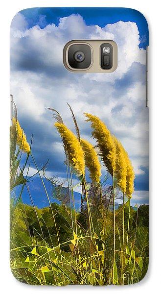 Galaxy Case featuring the photograph Golden Fluff by Rick Bragan