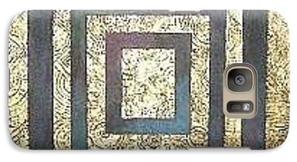 Galaxy Case featuring the painting Golden Fortress by Bernard Goodman