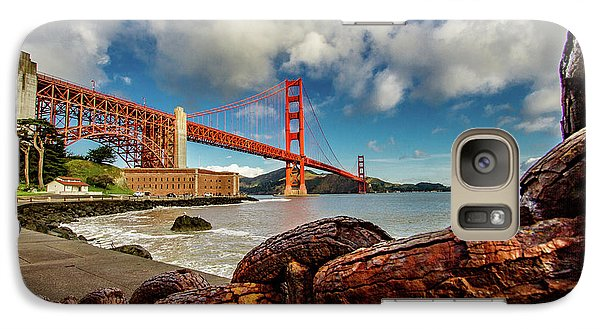 Galaxy Case featuring the photograph Golden Gate Bridge And Ft Point by Bill Gallagher