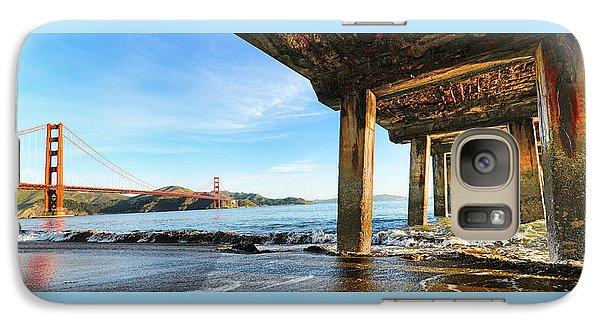Galaxy Case featuring the photograph Golden Gate Bridge From Under Fort Point Pier by Steve Siri