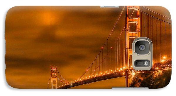 Galaxy Case featuring the photograph Golden Gate Bridge - Nightside by Jim Carrell