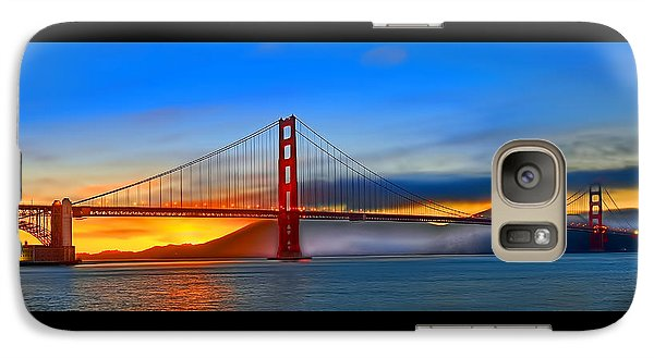 Galaxy Case featuring the photograph Golden Gate Bridge Sunset by Steve Siri