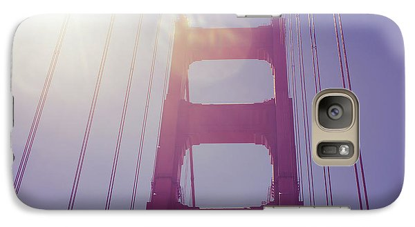 Galaxy Case featuring the photograph Golden Gate Bridge The Iconic Landmark Of San Francisco by Jingjits Photography