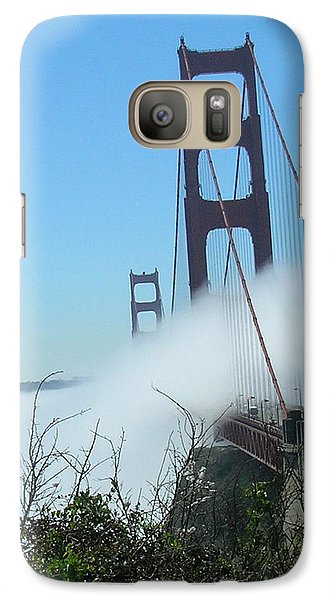 Galaxy Case featuring the photograph Golden Gate Bridge Towers In The Fog by Bonnie Muir