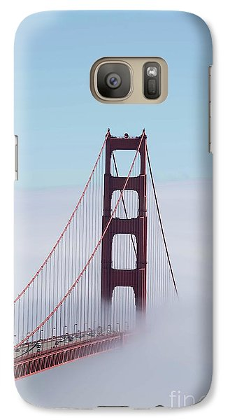 Galaxy Case featuring the photograph Golden Gate Fogged - 3 by David Bearden