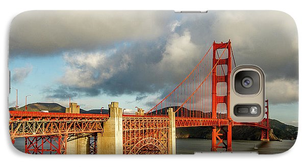 Galaxy Case featuring the photograph Golden Gate From Above Ft. Point by Bill Gallagher