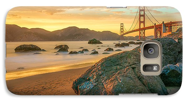 Golden Gate Sunset Galaxy S7 Case by James Udall
