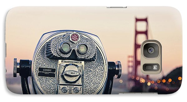 Galaxy Case featuring the photograph Golden Gate Sunset - San Francisco California Photography by Melanie Alexandra Price