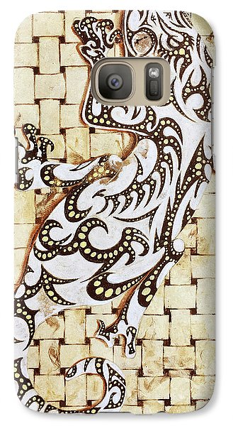Galaxy Case featuring the painting Golden Gecko by J- J- Espinoza