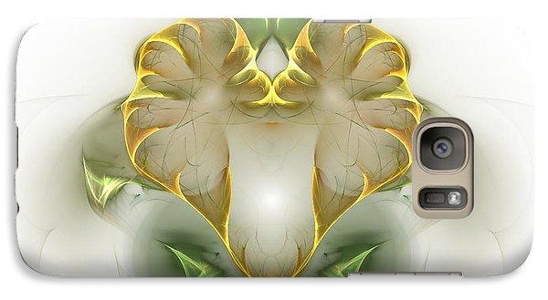 Galaxy Case featuring the digital art Golden Heart by Richard Ortolano