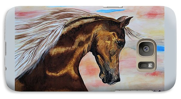 Galaxy Case featuring the painting Golden Horse by Melita Safran