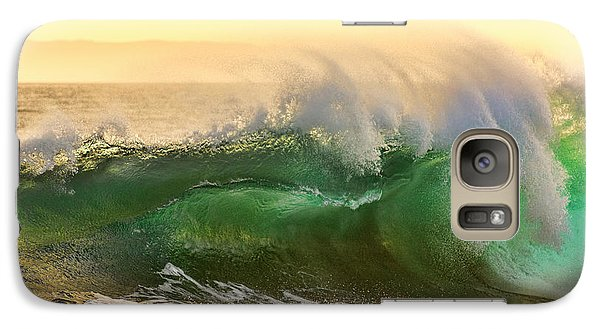 Galaxy Case featuring the photograph Golden Hour Waves by Eddie Yerkish