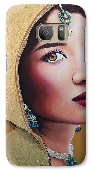 Galaxy Case featuring the painting Golden Indian Bride by Malinda Prudhomme