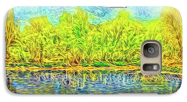 Golden Lake Reflections Galaxy S7 Case by Joel Bruce Wallach