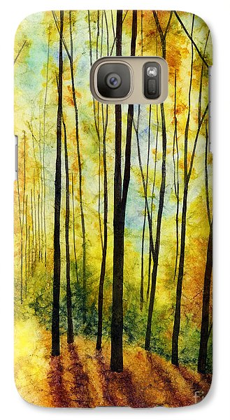 Galaxy Case featuring the painting Golden Light by Hailey E Herrera