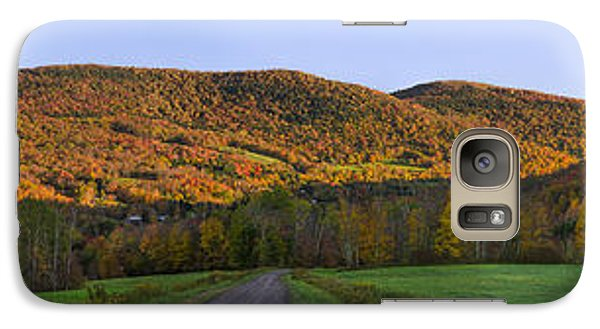 Galaxy Case featuring the photograph Golden Light On The Catskills by Mark Papke