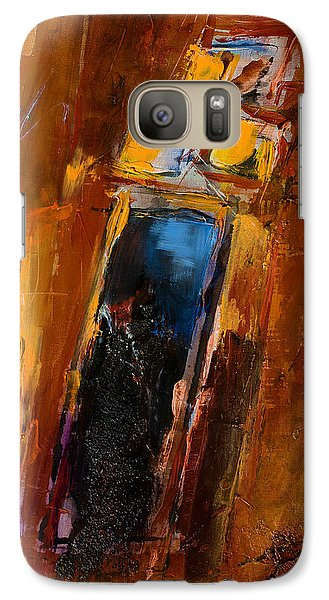 Galaxy Case featuring the painting Golden Lights by Elise Palmigiani