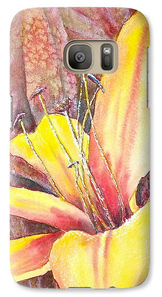 Galaxy Case featuring the photograph Golden Lily by Carolyn Rosenberger