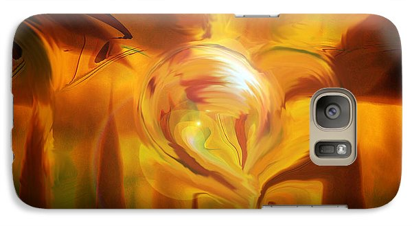 Galaxy Case featuring the digital art Golden Love by Linda Sannuti