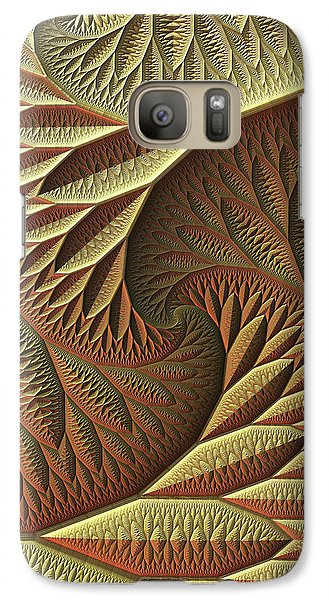 Galaxy Case featuring the digital art Golden by Lyle Hatch
