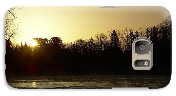 Galaxy Case featuring the photograph Golden Mississippi River Sunrise by Kent Lorentzen