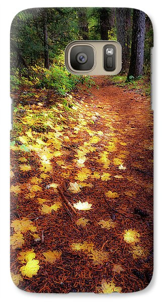Galaxy Case featuring the photograph Golden Path by Cat Connor