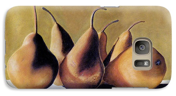 Galaxy Case featuring the pastel Golden Pears 2 by Jan Amiss