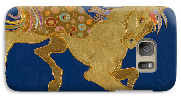 Galaxy Case featuring the painting Golden Pegasus by Bob Coonts