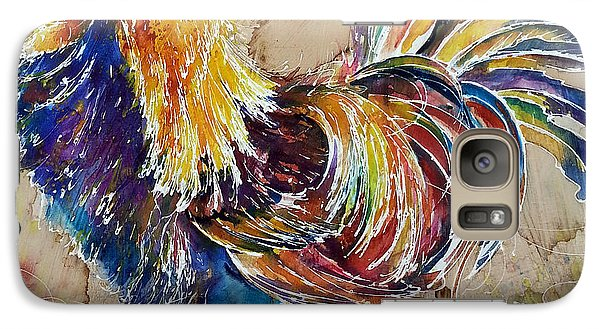 Galaxy Case featuring the painting Golden Polish Chicken by Christy  Freeman