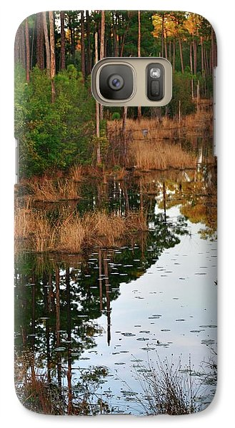 Galaxy Case featuring the photograph Golden Pond by Lori Mellen-Pagliaro