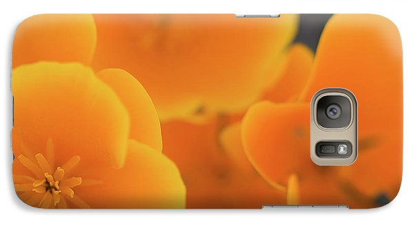 Galaxy Case featuring the photograph Golden Poppies by Roger Mullenhour