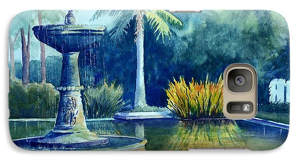 Galaxy Case featuring the painting Golden Reflections by Sandy Fisher