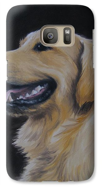 Galaxy Case featuring the painting Golden Retriever Nr. 3 by Jindra Noewi