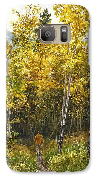 Galaxy Case featuring the painting Golden Solitude by Anne Gifford