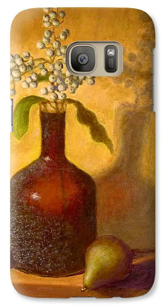 Galaxy Case featuring the painting Golden Still Life by Joe Bergholm