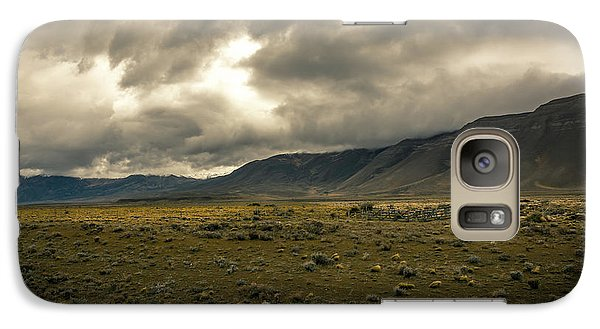 Galaxy Case featuring the photograph Golden Storm by Andrew Matwijec
