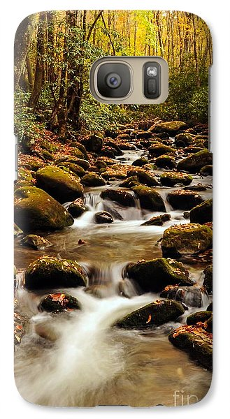 Galaxy Case featuring the photograph Golden Stream In The Great Smoky Mountains by Debbie Green