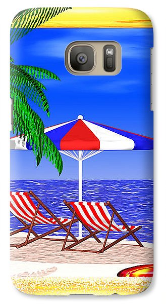 Galaxy Case featuring the digital art Golden Summer by Andreas Thust
