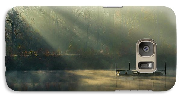 Galaxy Case featuring the photograph Golden Sun Rays by George Randy Bass