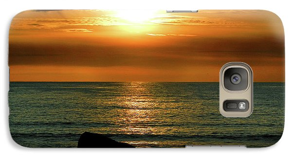 Galaxy Case featuring the photograph Golden Sunset At The Beach IIi by Mariola Bitner