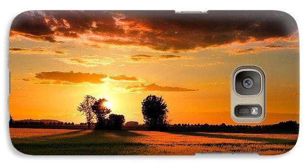 Galaxy Case featuring the photograph Golden Sunset by Franziskus Pfleghart