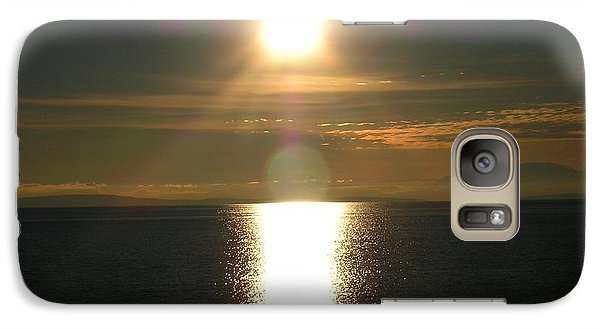 Galaxy Case featuring the photograph Golden Sunset by Kim Prowse