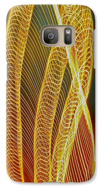 Galaxy Case featuring the photograph Golden Swirl Abstract by Sean Griffin