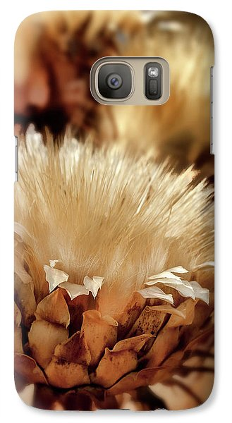 Galaxy Case featuring the digital art Golden Thistle II by Bill Gallagher