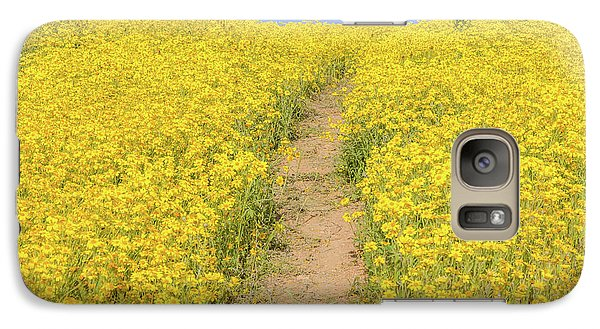 Galaxy Case featuring the photograph Golden Trail by Marc Crumpler