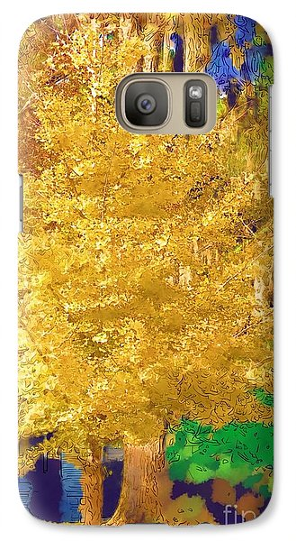 Galaxy Case featuring the photograph Golden Tree by Donna Bentley
