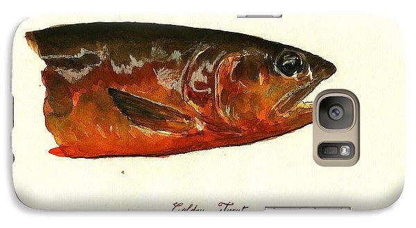 Golden Trout  Galaxy Case by Juan  Bosco
