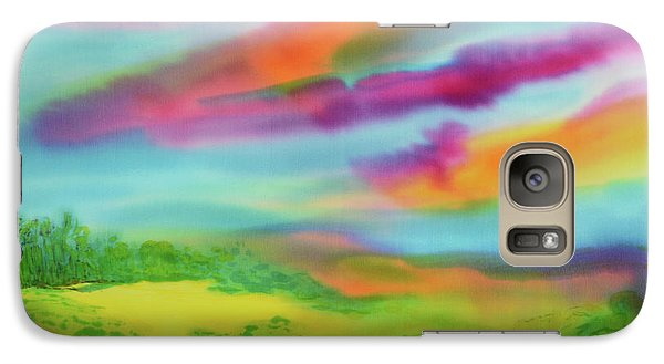 Galaxy Case featuring the painting Escape From Reality by Susan D Moody