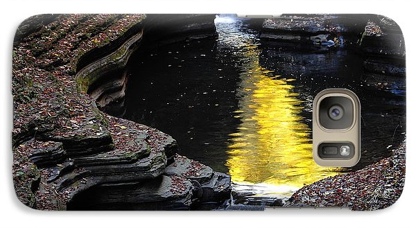 Galaxy Case featuring the photograph Golden Water by Vilas Malankar