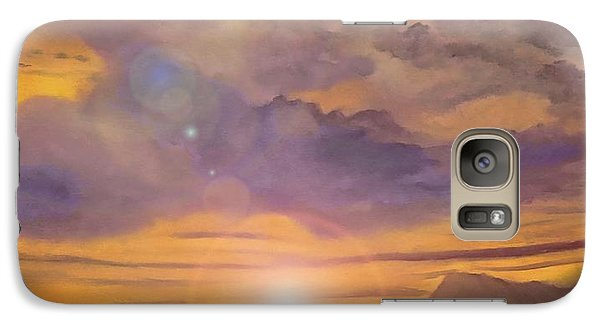 Galaxy Case featuring the painting Golden Wave by Holly Martinson